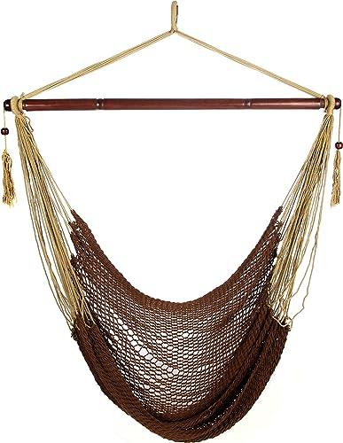 ARAD Hammock Chair, Hammock Swing, Hammock Chair Outdoor, Porch Swing Hammock, Hammock Hanging Chair, Rope Construction Hanging Seat Brown