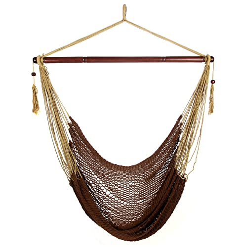 ARAD Hammock Chair, Hammock Swing, Hammock Chair Outdoor, Porch Swing Hammock, Hammock Hanging Chair, Rope Construction Hanging Seat Brown