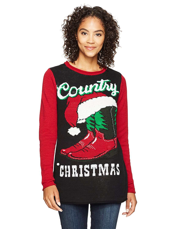 Ugly Christmas Sweater Womens Country Xmas SWP7-5041BAMZ