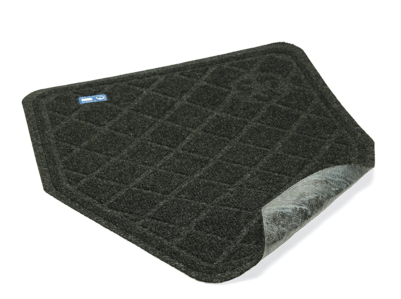 Wearwell 415.916x3x5BK SpongeCote Diamond-Plate Anti-Fatigue Mat 91 cm x 152 cm Black Heavy Duty