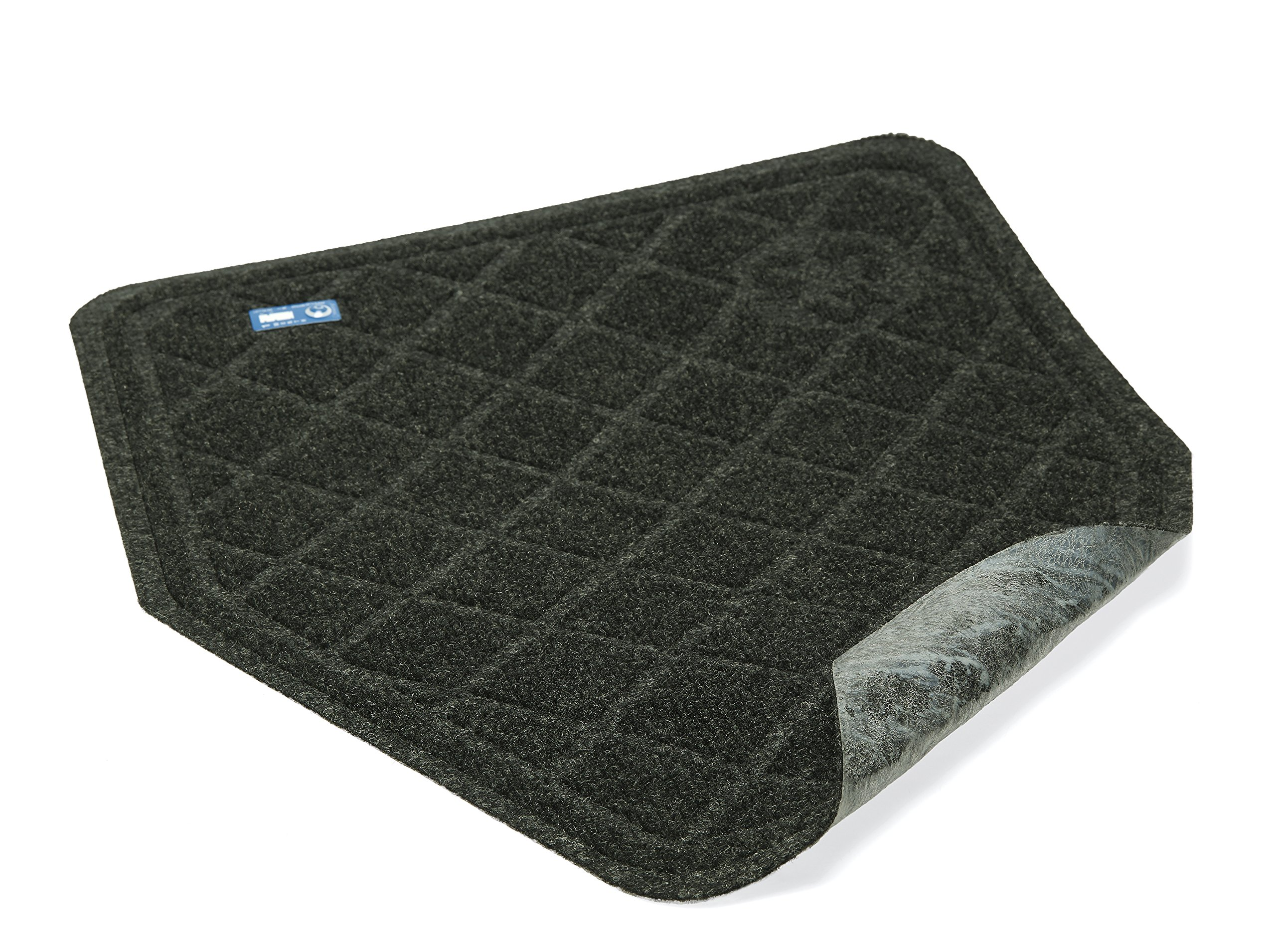 CleanShield Antimicrobial Non-Slip 30-Day Disposable Urinal Mat by M+A Matting (Charcoal, Case of 6)