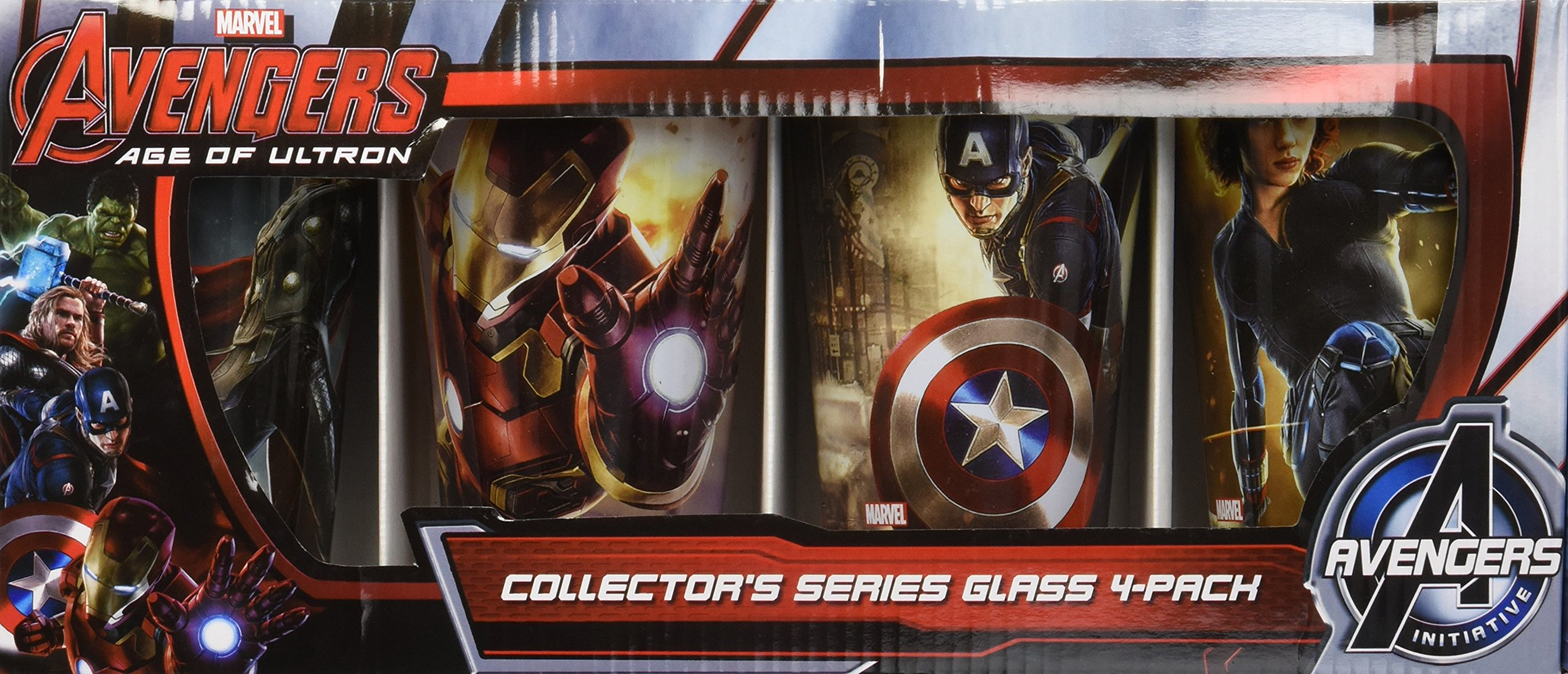 ICUP Marvel Avengers Age of Ultron Full Color Pint Glass (4 Pack), Clear by ICUP (Image #2)
