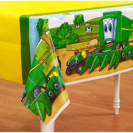 Amazon.com: Party Destination Johnny Tractor Plastic Tablecover ...
