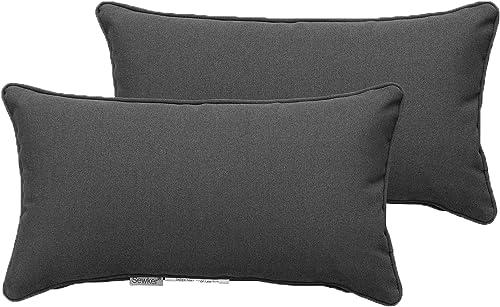 SewKer Indoor/Outdoor Decorative Lumbar Throw Pillows Water Resistant