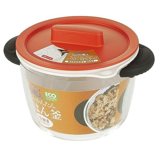 Microondas para cocinar el vidrio Unix olla de arroz Naranja 4548 ...