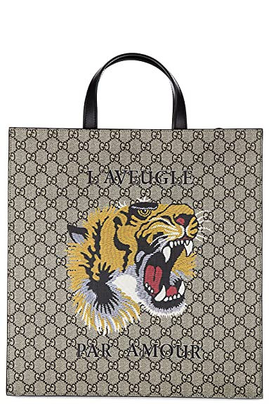 Gucci sac à main homme gg supreme impression tigre beige  Amazon.fr ... 55013637caf