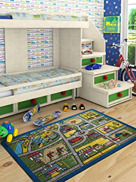 Amazon.com: Adgo Kids Collection Anti Bacterial Rubber Backed Non Slip Multi Colors Kids Childrens Educational Spanish English Area Rug (44