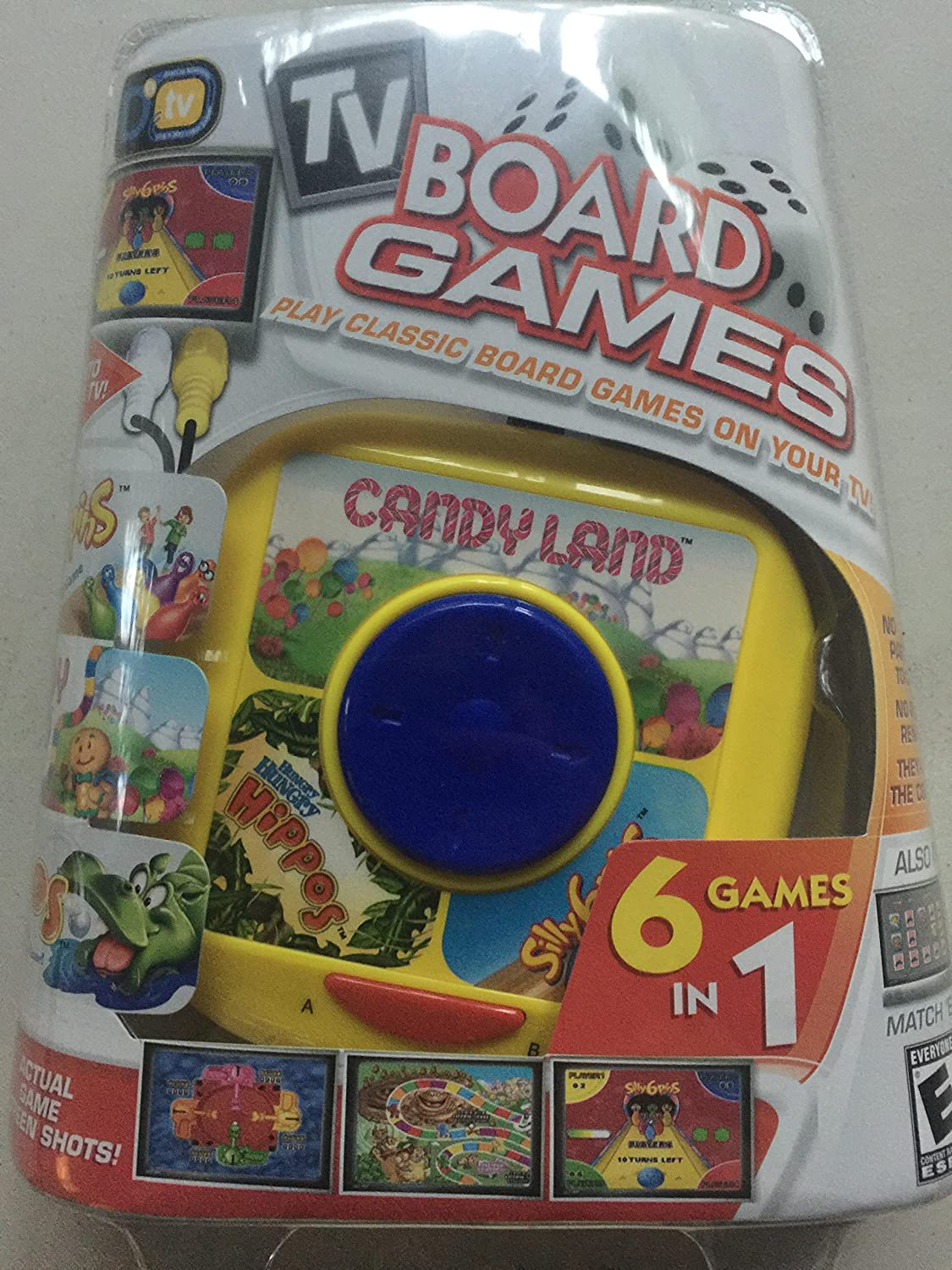 tv BOARD GAMES CANDY LAND 6 GAMES IN 1