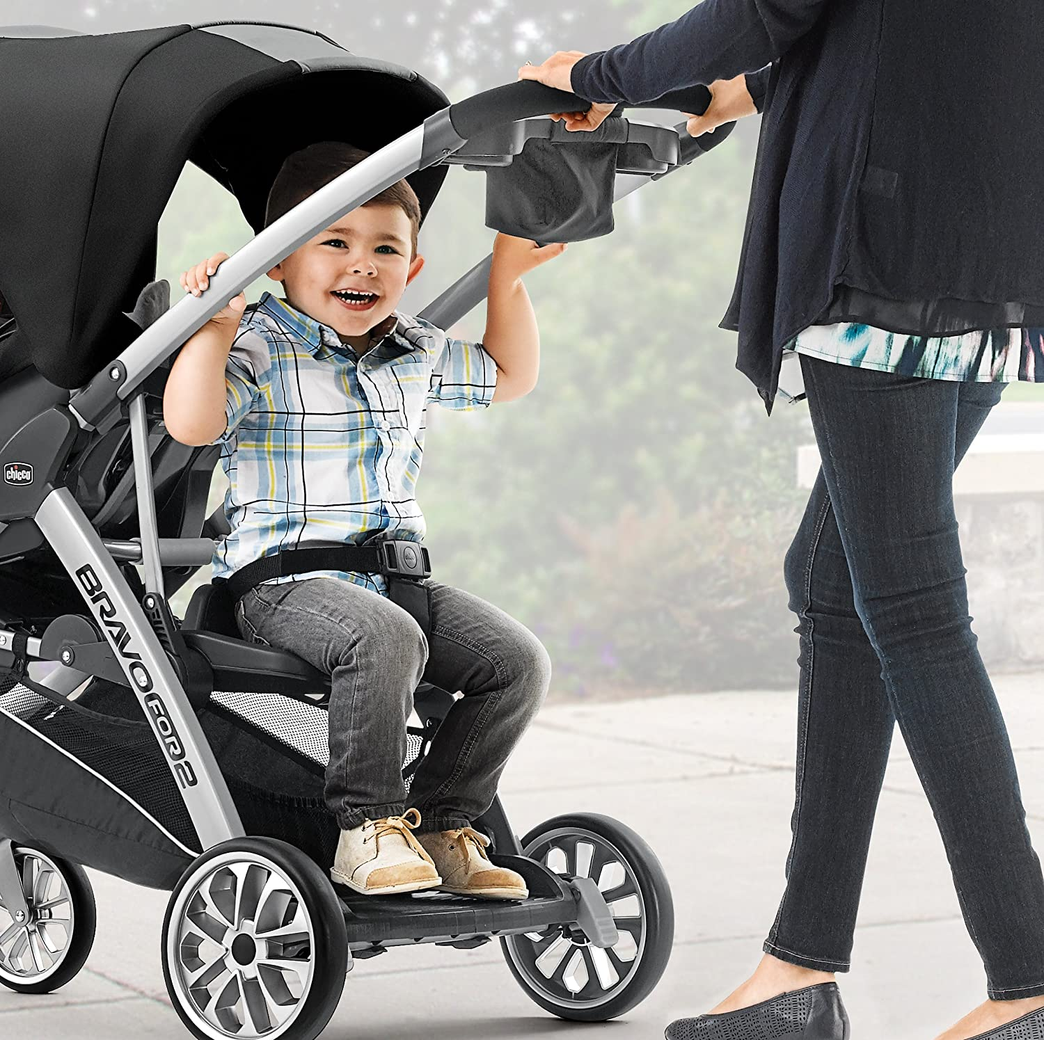 Iron Chicco BravoFor2 Standing//Sitting Double Stroller