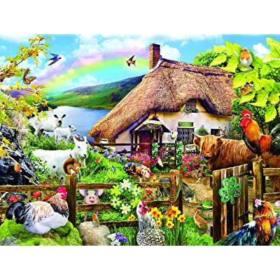 Luck of The Irish 300 pc Jigsaw Puzzle by SunsOut: Toys & Games