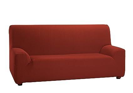 Martina Home Tunez, Funda elástica para sofá, color Teja, medidas para 3 Plazas (180-240 cm)