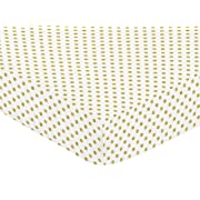 Sweet Jojo Designs Fitted Crib Sheet for Amelia Baby/Toddler Bedding - Gold and White Polka Dot