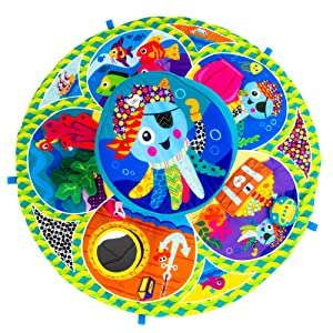 Lamaze Spin and Explore Baby Gym and Tummy Time Baby Play Mat