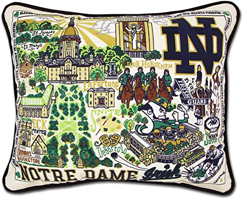 Catstudio University of Notre Dame Collegiate Embroidered Decorative Throw Pillow