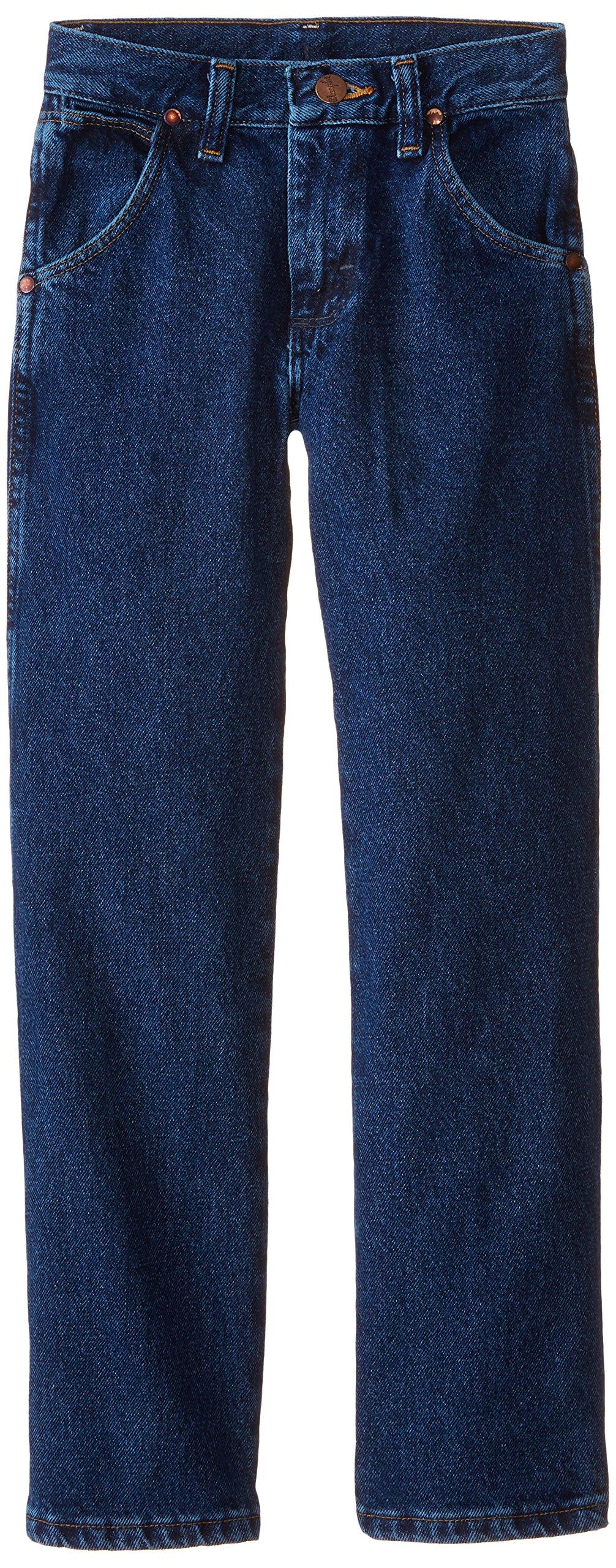 Wrangler Big Boys' Cowboy Cut Jeans,Dark Indigo,8 Slim