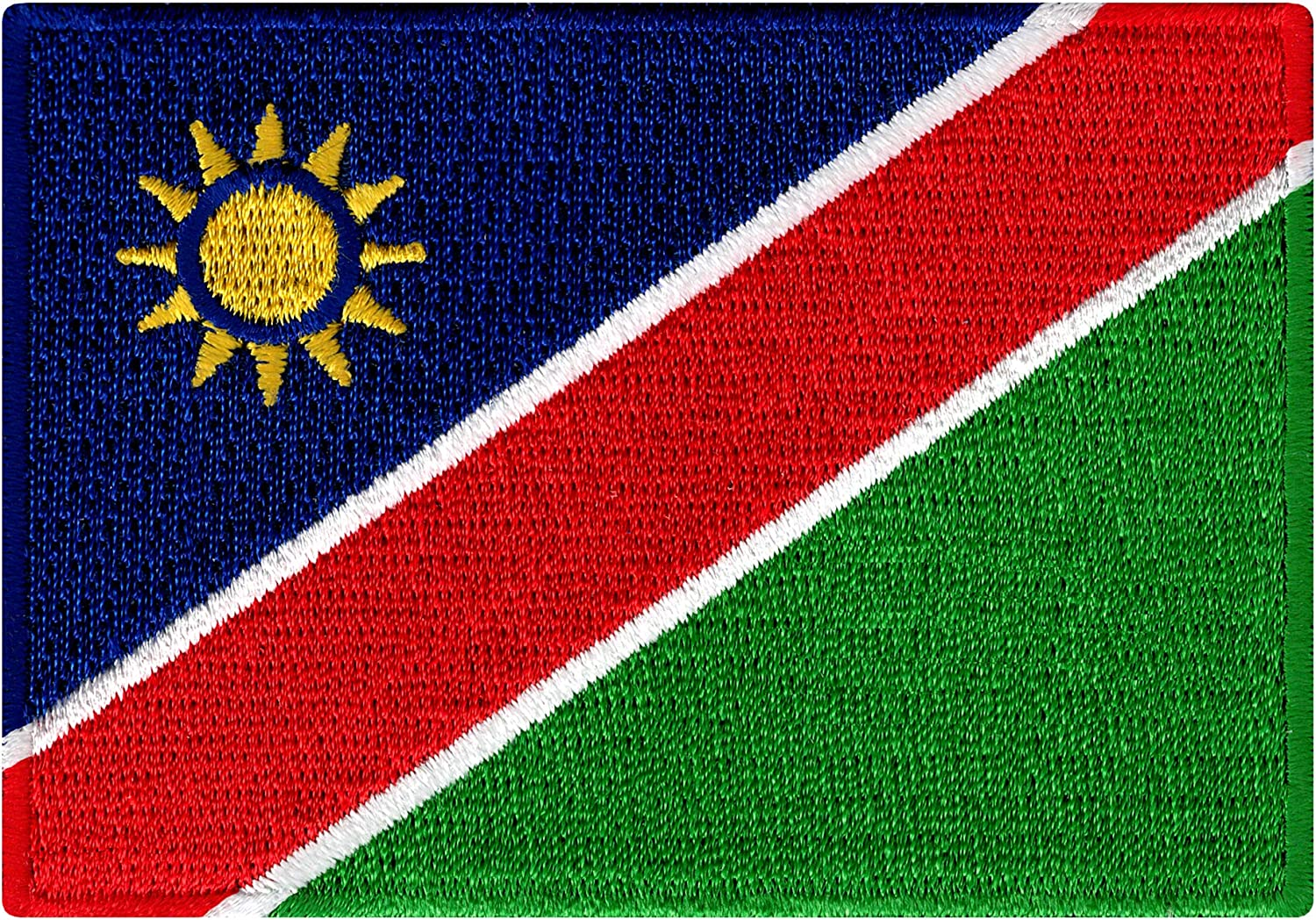 Namibia Flag Iron On Patch Sew On Clothes South Africa African Embroidered Badge