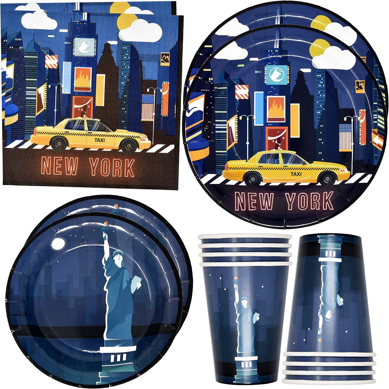 New York City NYC Party Supplies Tableware Set 24 9