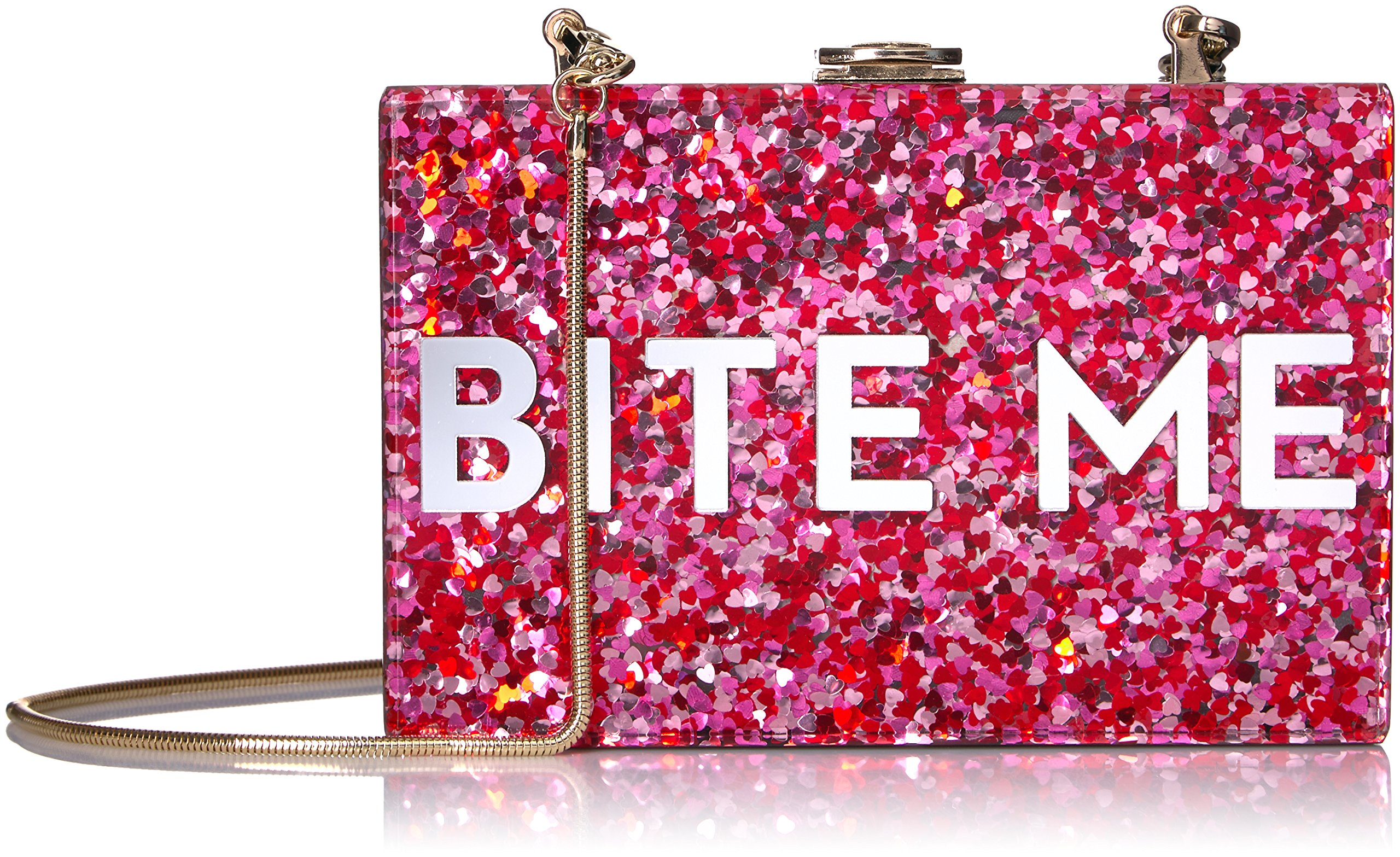 MILLY Glitter Bite Me Box Clutch, Multi by MILLY