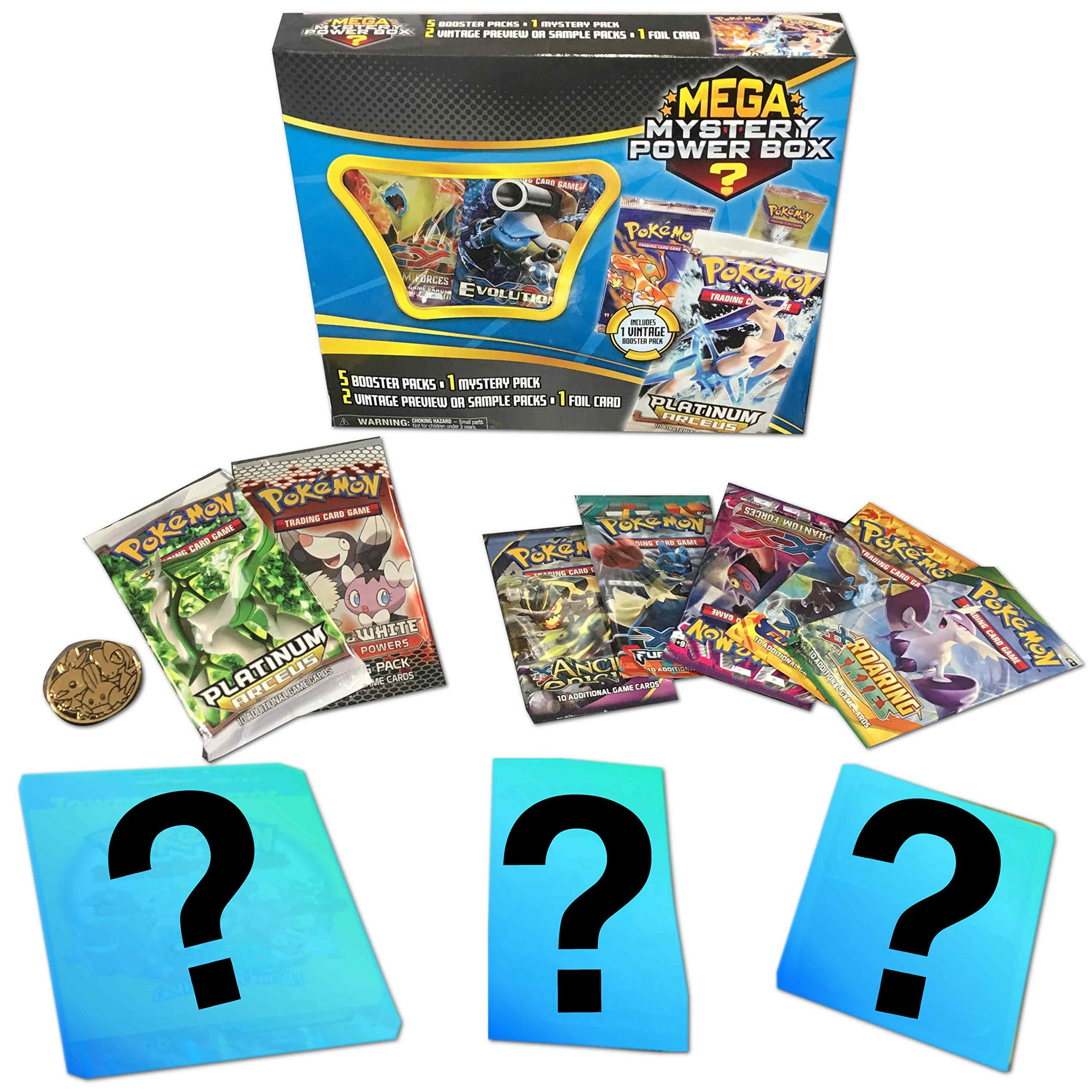 Pokemon TCG: Mystery Power Box #1-5 Booster Packs + A Foil Card