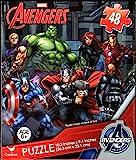 Avengers 48 Piece Jigsaw Puzzle CAPTAIN AMERICA, HULK, THOR, BLACK WIDOW, HAWKEYE, IRON MAN and NICK FURY