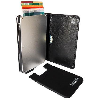 MolinQ Cartera para Tarjetas de Crédito | Tarjetero Pequeño para Hombre y Mujer | Bloqueo RFID