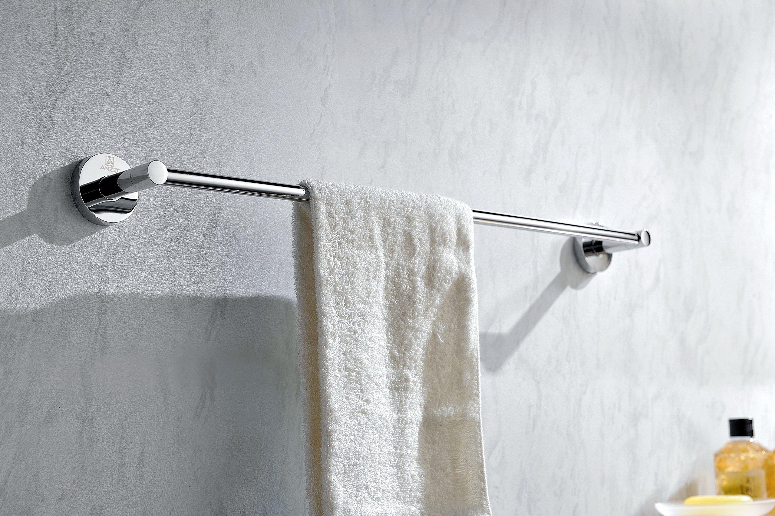 21.69'' Towel Bar - Polished Chrome - Caster Series AC-AZ007 - ANZZI by ANZZI (Image #2)