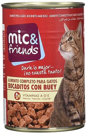 Mic & Friends Comida Para Gato con Buey - 415 g