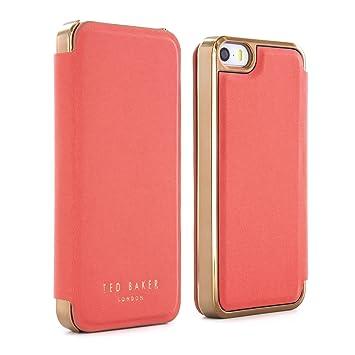 8426bd7c67f46e Ted Baker SS16 SHAEN Mirror Folio Case for iPhone SE  Amazon.co.uk ...