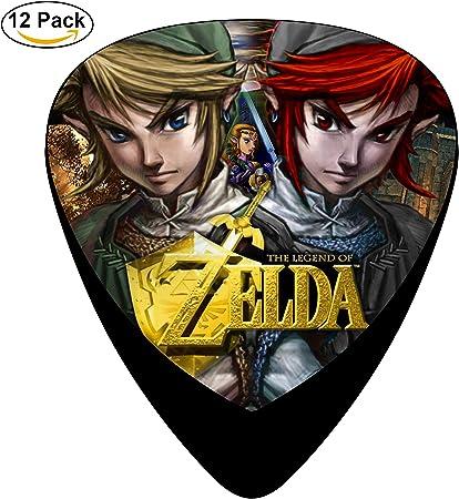 the-Legend-of-Zelda especialidad de corazón 3 D impresión celuloide púas de guitarra Custom 12 unidades negro: Amazon.es: Amazon.es