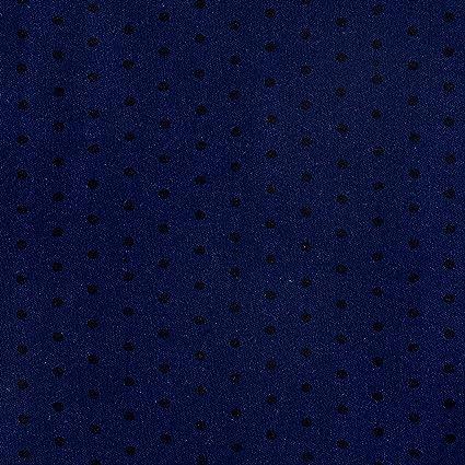 Rayon Crepe Mini Lunares Azul marino/negro tela por el patio