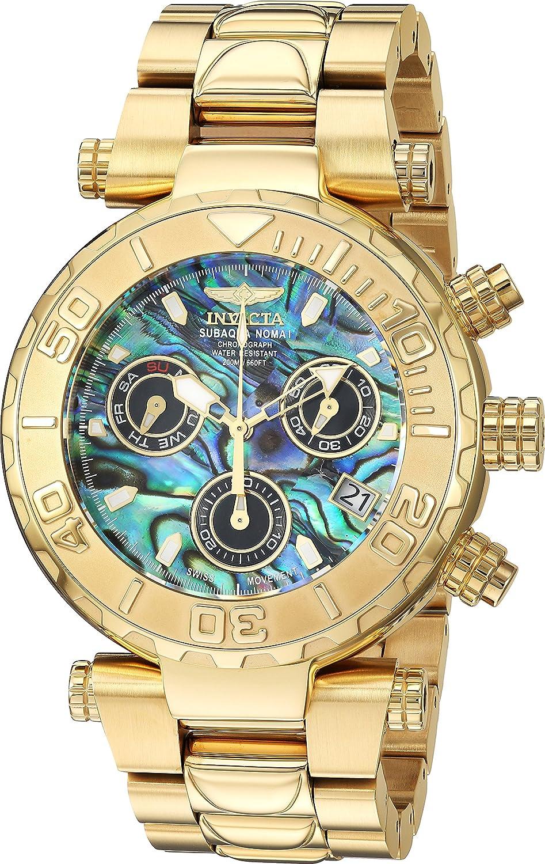 Invicta Men s Subaqua Quartz Watch with Stainless-Steel Strap, Gold, 0.9 Model 25801