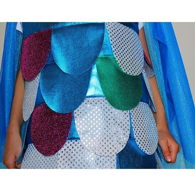 Krause & Sohn Disfraz para Niños Regenbogenfisch (Tallas 98 - 128 - Disfraz de Pescado de mar Carnaval: Amazon.es: Juguetes y juegos