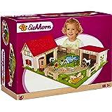 Eichhorn Wooden Toy Farm Set (25-Piece, Multi-Colour)