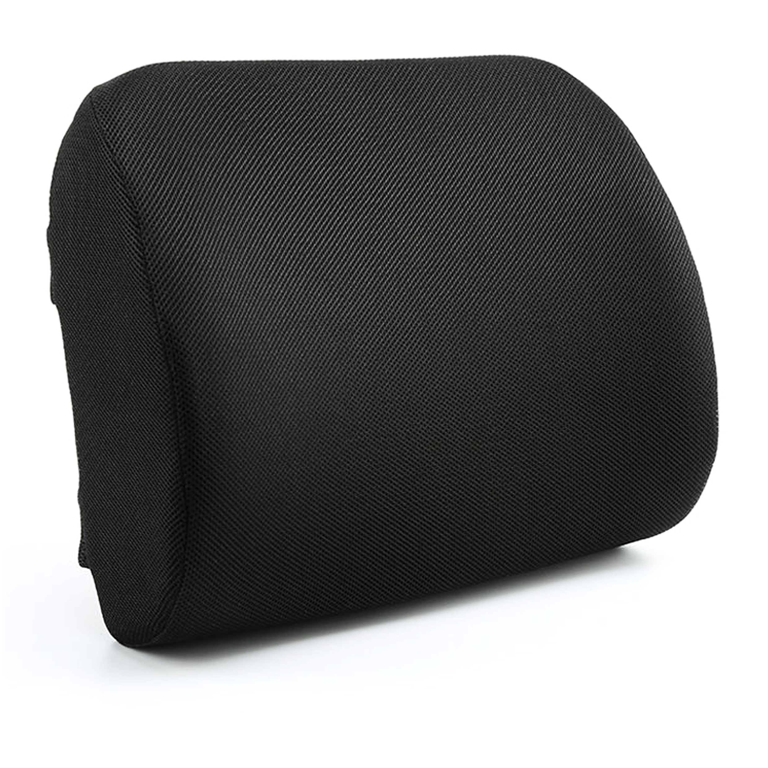 Aerair Lumbar Back Support for Office Chair - Chair Back Support - Relax-A-Bac Lumbar Cushion, Lower Back Pillow With Wooden Support Board and Strap, Black