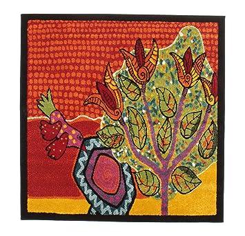 Teppich quadratisch 120x120  Tulip tree Teppich 120x120 Moderner, Quadratisch Teppich: Amazon ...