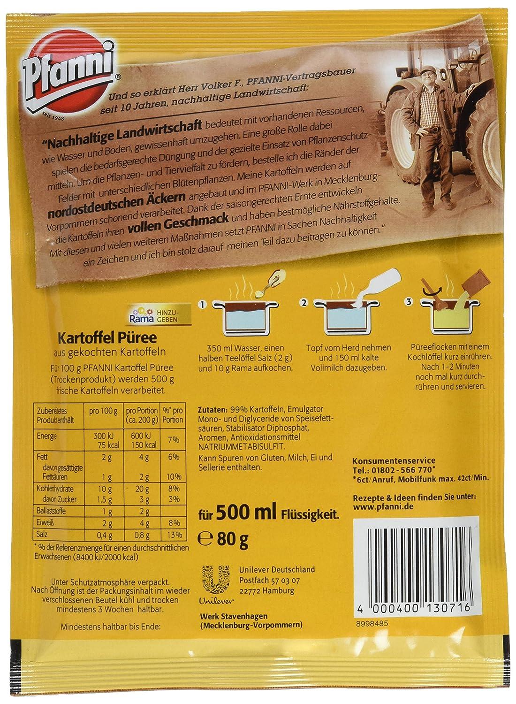 Kartoffel Kcal pfanni kartoffelpüree der klassiker besonders locker 3 portionen