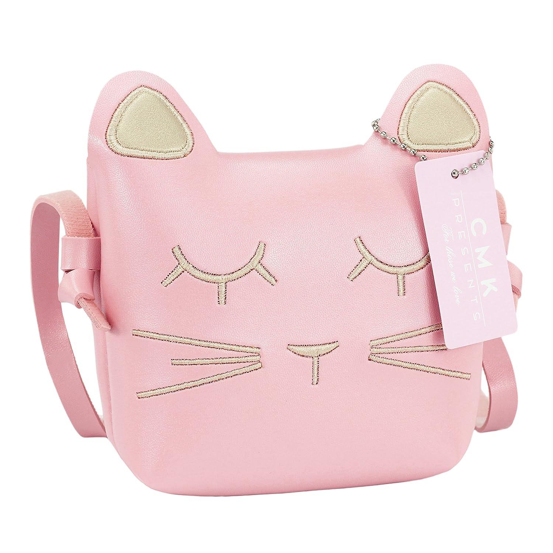 CMK Trendy Kids Kids Cat Purse for Little Girls Toddlers Crossbody Handbag Purses