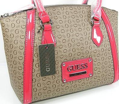 Guess G Logo Purse Satchel Hand Bag Spring Coral Khaki Beige Tan Proposal   Handbags  Amazon.com 736e390ce51e7