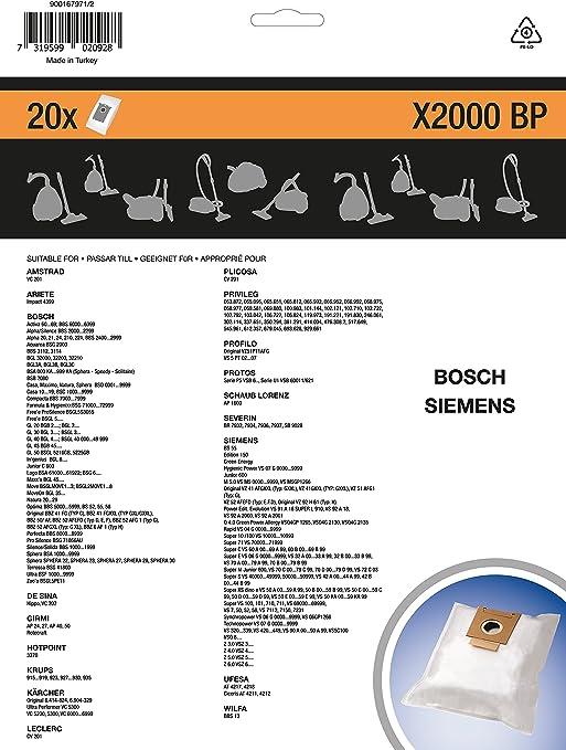 20 Staubsaugerbeutel zu Bosch BBS 6000-6999 Logo