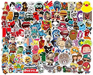 Cool Stickers,100Pcs,Waterproof Vinyl Stickers, for Car, Motorcycle, Bicycle, Luggage, Skateboard, Door, Window, Graffiti Laptop Stickers Decal Patches, for Adult