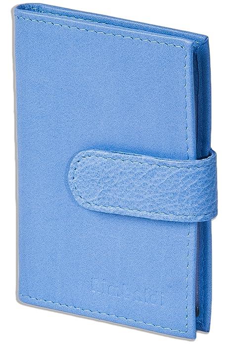 Rimbaldi Caja de la tarjeta de crédito-XXL durante 19 tarjetas hecha de suave piel de becerro tratada Naturaleza