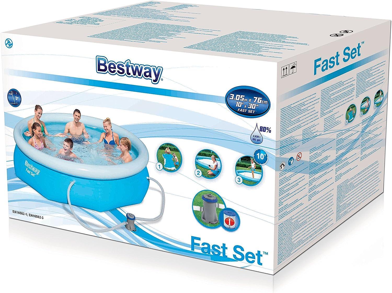 Bestway 57270 - Piscina Desmontable Autoportante Fast Set 305x76 ...
