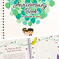 Wedding Anniversary Book - A Hardcover Journal To Document Wedding Anniversaries From The 1st To the 50th Year - Unique Couple Gifts For Him & Her - Personalized Marriage Presents For Husband & Wife.