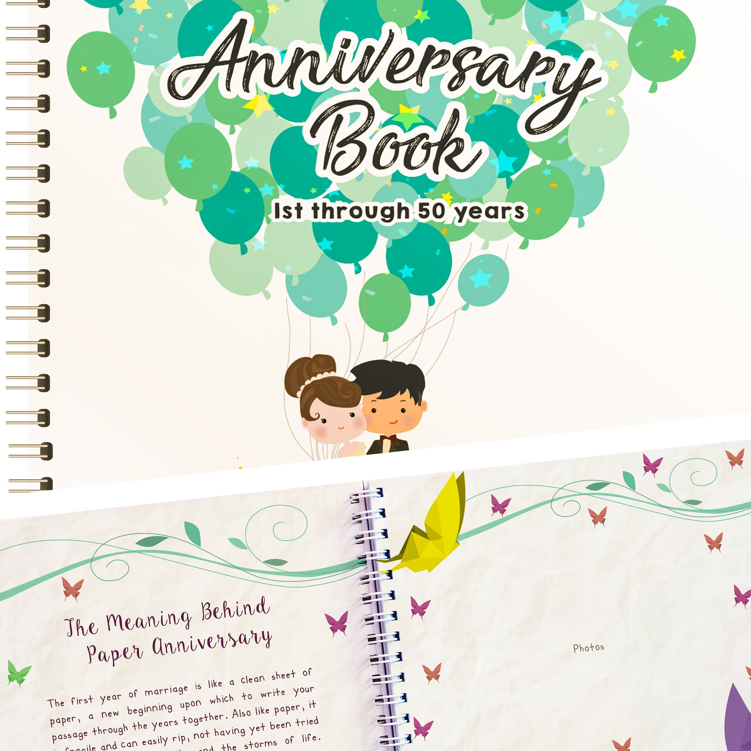 Wedding Anniversary Book - A Hardcover Journal To Document Wedding Anniversaries From The 1st To the 50th Year - Unique Couple Gifts For Him & Her - Personalized Marriage Presents For Husband & Wife. by Unconditional Rosie