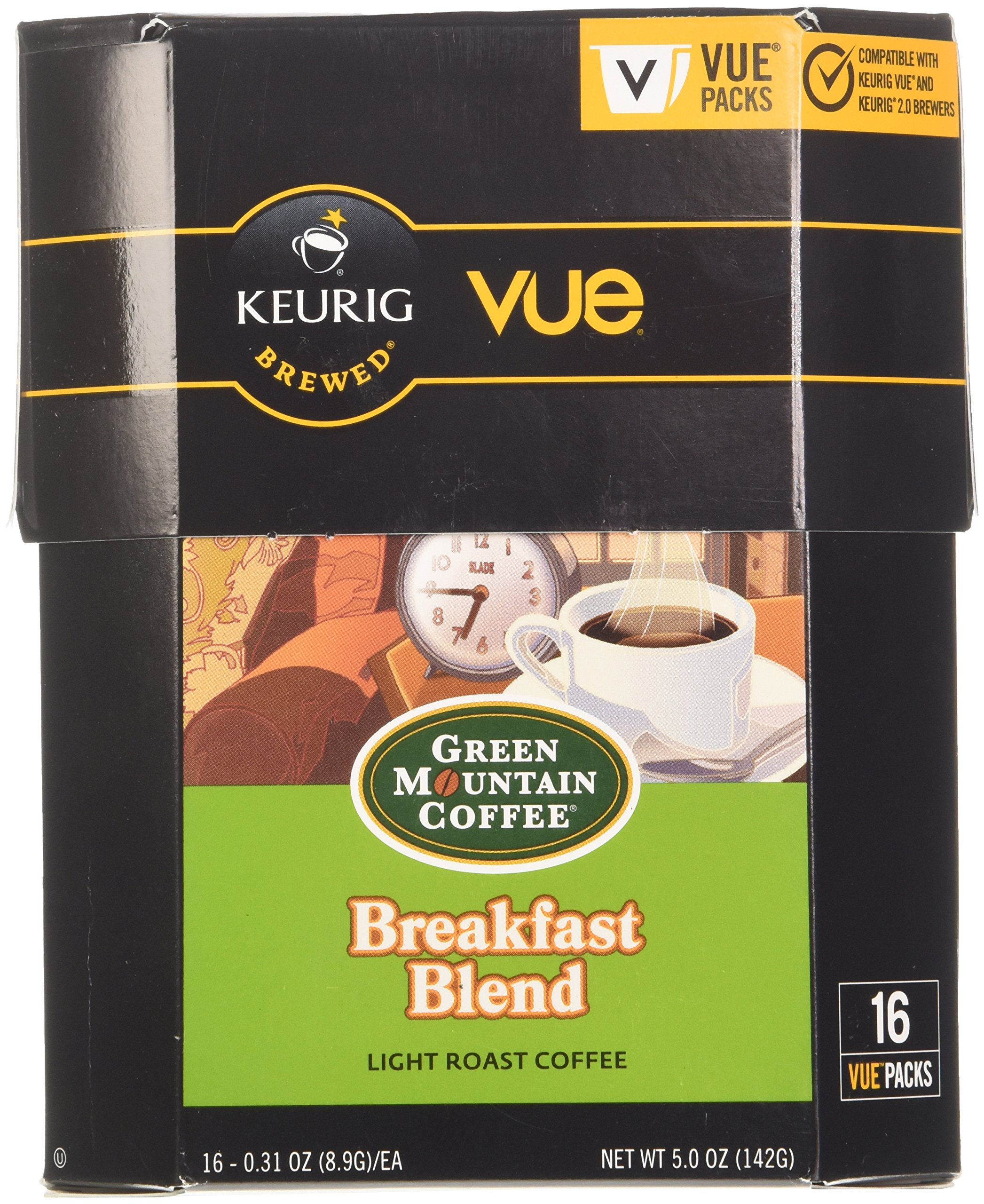 Green Mountain Coffee Breakfast Blend, Vue Cup Portion Pack for Keurig Vue Brewing Systems, 16 Count by Green Mountain Coffee Roasters (Image #4)
