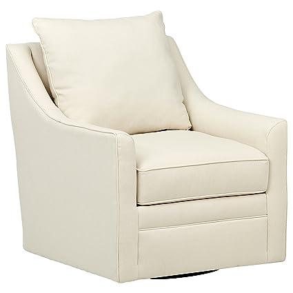 Terrific Stone Beam Larkin Swivel Chair 30W Beige Bralicious Painted Fabric Chair Ideas Braliciousco