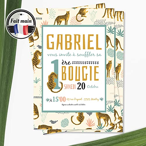 Lot 12 Invitations Anniversaire Fille Ou Garçon Originale Savane Cartons Invitation Anniversaire Enfant Personnalisé
