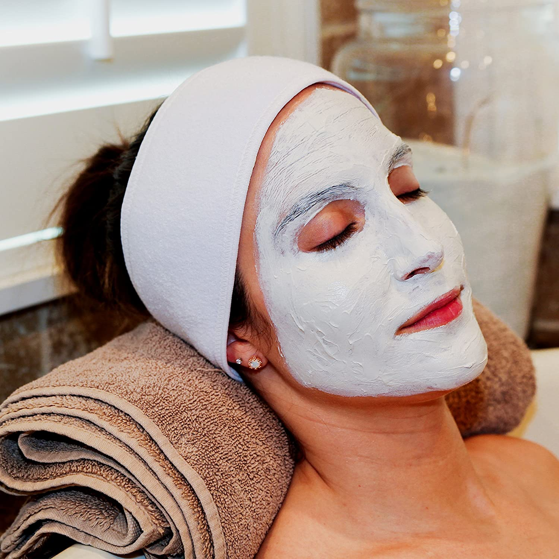 S&T Facial & Makeup Cotton Headband, 3 Pack, 0.21 lb