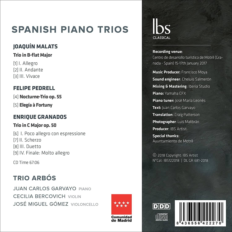 Trio Arbos, Enrique Granados, Joaquin Malats, Felipe Pedrell, __ - Trio Arbos: Spanish Piano Trios - Amazon.com Music