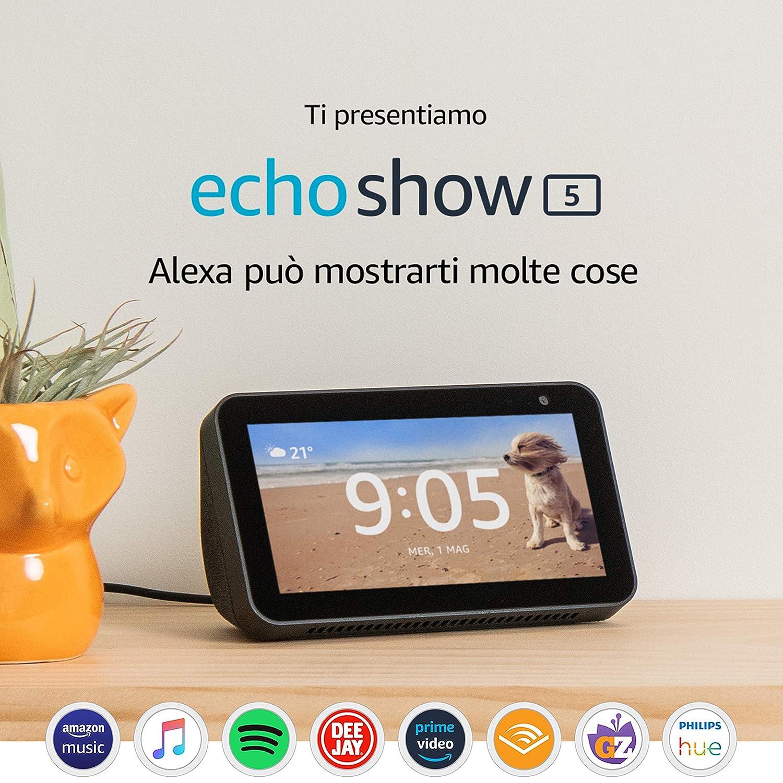 Ti presentiamo Echo Show 5 - Schermo compatto e intelligente con Alexa, Nero: Amazon.it
